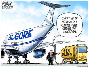 Algore airplane