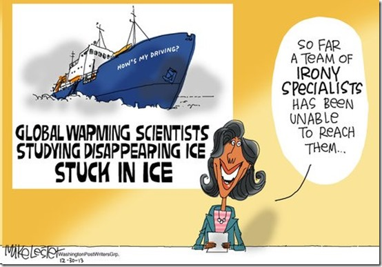 stuck in ice